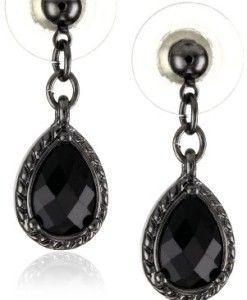 1928-Jewelry-Black-Victorian-Mini-Teardrop-Earrings-0
