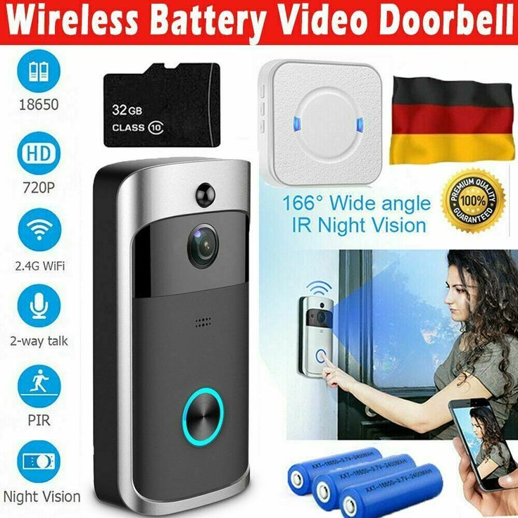 720p Wifi Smart Video Doorbell Video Turklingel Mit Kamera Hd Wlan Nachtsicht Kamera Ideas Of Kamera Kamera Night Vision Video Doorbell Wireless