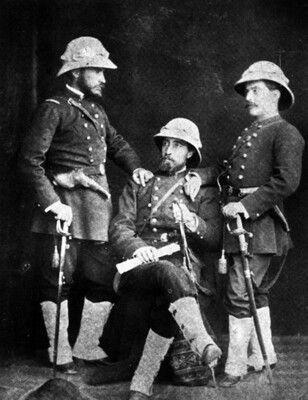 Oficiales del Regimiento 3° de Línea en Antofagasta, año 1879