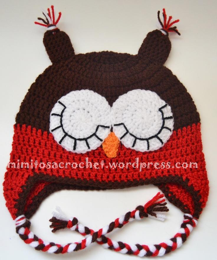 9 best Gorros de búho a crochet images on Pinterest   Beanies, Hot ...