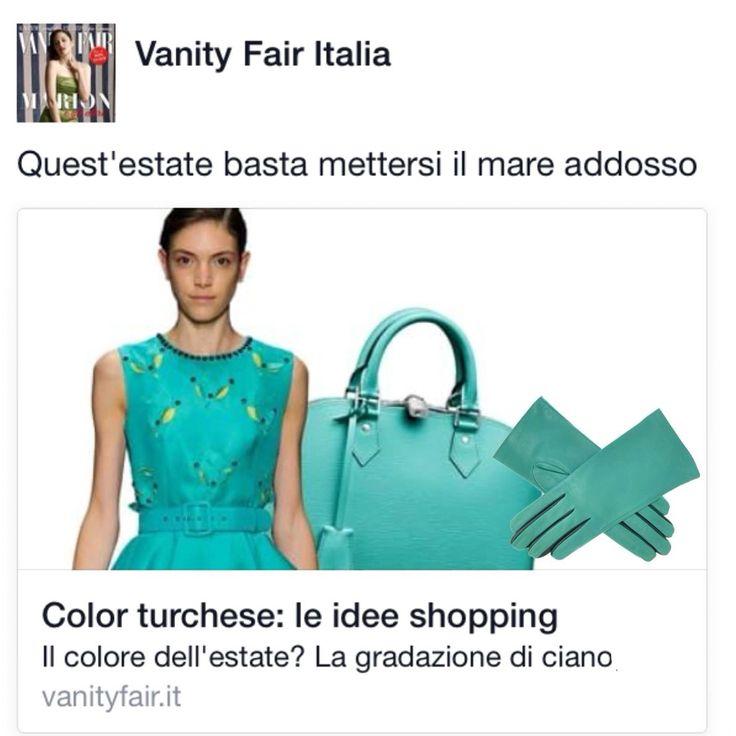 Secondo Vanity Fair Italia il #turchese è il colore dell'estate. Scopri la nostra interpretazione di uno dei must-have della stagione sul nostro e-shop http://www.brunocarloshop.com/guanto-in-pelle-bicolore-da-donna--foderato-seta-326