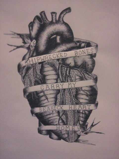 /\Tattoo Ideas, Tattoo Anatomical Heart, Anatomical Heart Tattoo, Quote, Seasick Heart, A Tattoo, Anatomical Tattoo, Parkway Drive Tattoo, Ink
