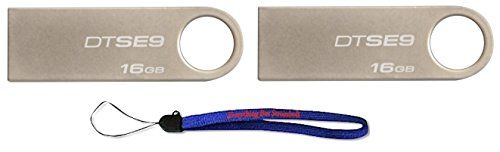 Kingston Digital DataTraveler SE9 16GB USB 20 DTSE9H16GB 16GB 2 pack Flash Drive Jump Drive Pen Drive  w 1 Everything But Stromboli TM Lanyard -- Want to know more, click on the image.