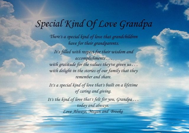 Grandpa Poem Birthday, Christmas Or Father's Day Gift