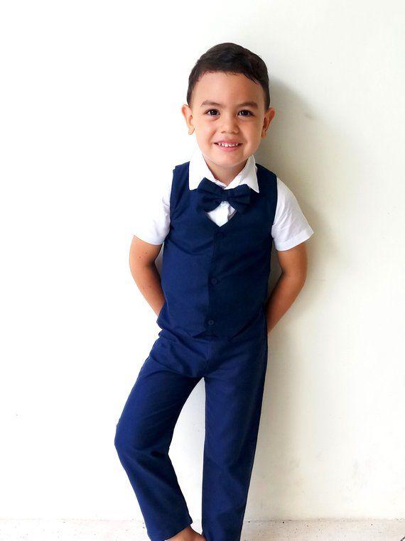 8567faa4cb0 Boy Suspender Pants- Navy