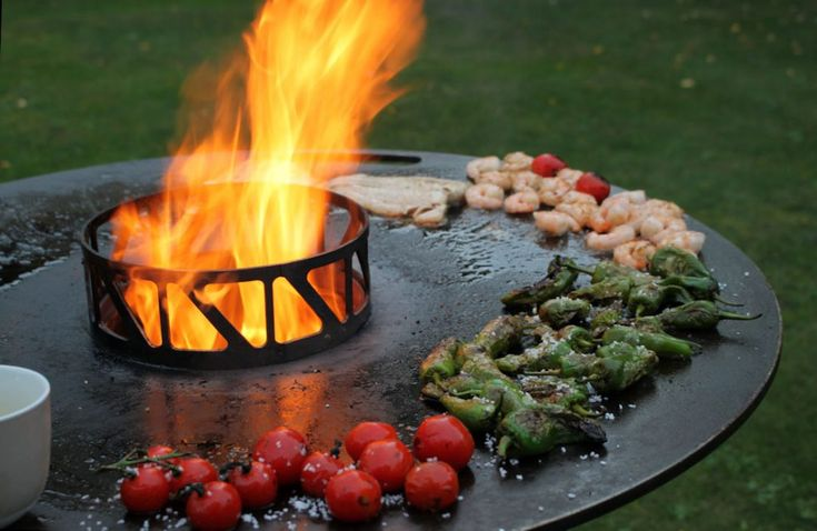83 best outdoor firepits images on pinterest outdoor for Wok garden parrilla