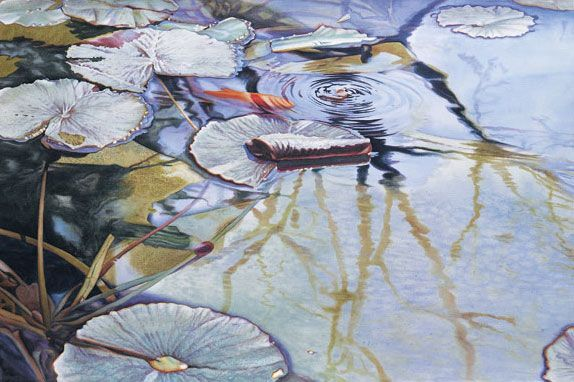 How to paint with transparent watercolor; artwork by Linda Stevens Moyer, featured at ArtistsNetwork.com. ^ch #watercolor #lilypads