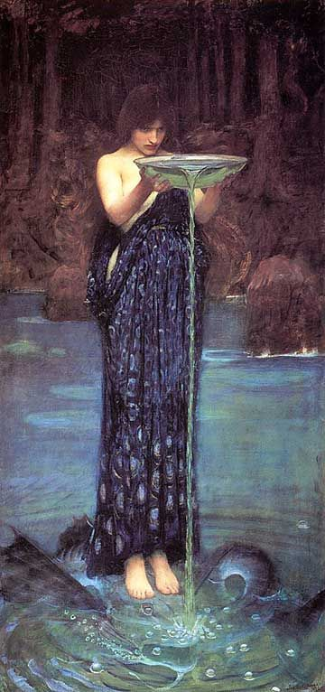 John Williams Waterhouse - The Envious Circe. Tags: odyssey, ulysses, odysseus, circe, kirke,