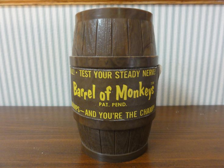 Retro 1966 Barrel of Monkeys Game, Complete with Paper Label & 12 Monkeys, Original Lakeside Toys, Game for Young Children, Vintage Toy #758 by MeadowlarkNaturals on Etsy