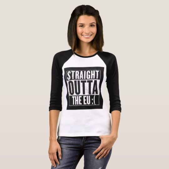 STRAIGHT OUTTA THE EU :( T-Shirt #straight outta the eu, #the eu, #brexit, #straight outta the eu, #british, #tv, #popculture, #satire, #funny, #humour, #straight out of, #comedy, #silly, #dystopia, #dark times, #darkhumour, #gallowshumour, #tory, #antifascist, #spraypaint, #graffiti, #doom, #trump, #politics, #symbol, #sign, #warning, #teresamay, #theresa may, #anti tories,