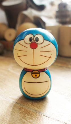 Doraemon kokeshi doll by SURGE, Japan  ----------- #japan #japanese #kokeshi
