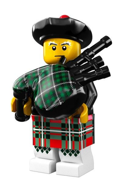 A LEGO PIPER! How fun is that! I love Lego