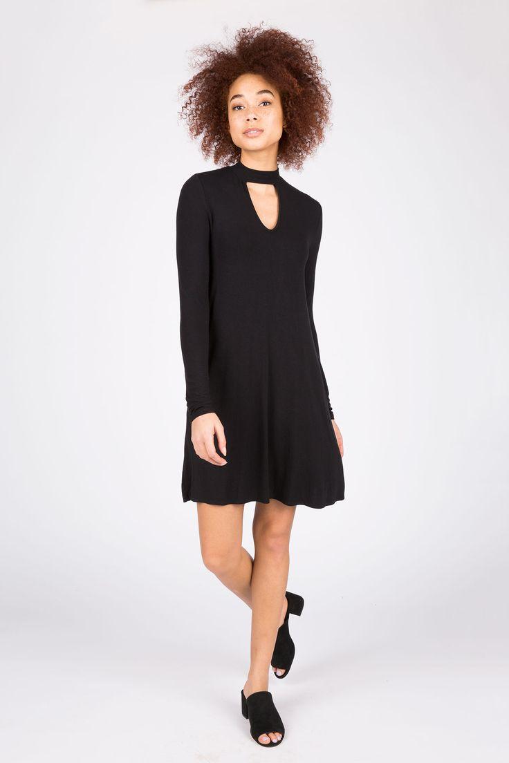 Black dress goals - Girls Solid A Line Choker Dress