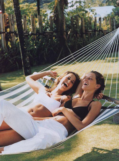 friends + hammocks.