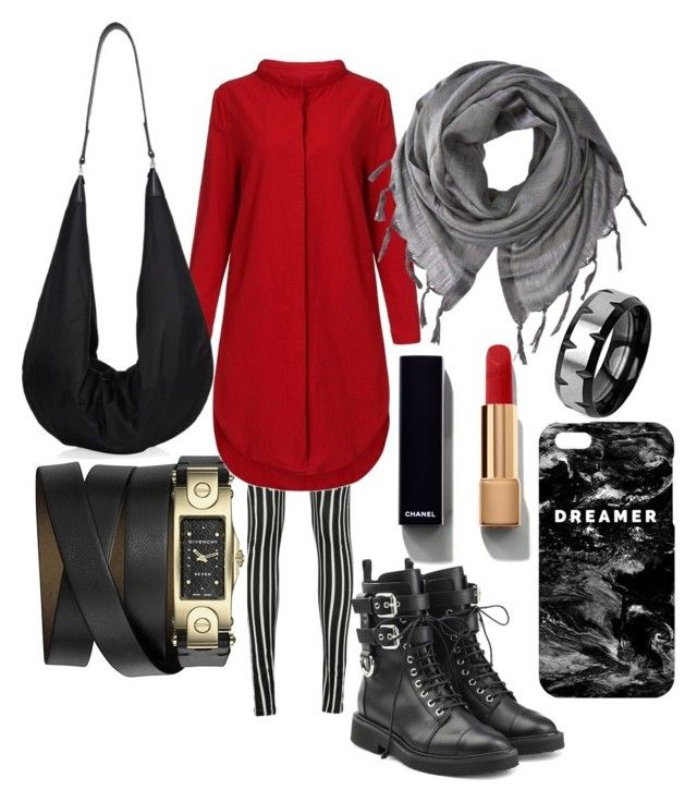"""Untitled #103"" by nenglita on Polyvore featuring Givenchy, Giuseppe Zanotti, Love Quotes Scarves, The Row, Mr. Gugu & Miss Go, Chanel and West Coast Jewelry"