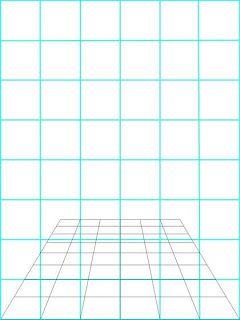 Un dibujo Normal se hace sobre la grafica azul... eso lo necesitamos pasar a una perspectiva a distancia ( lo cual es la otra grafica) puede utilizarse un programa como photoshop y distorcionar la imagen de acuerdo a la distancia de cada linea, pueden usarse formulas matematicas, o simplemente hacer un dibujo en 3 dimenciones sobre una hoja transparente, despues encuentra la manera de colgarla en el aire, y utiliza una camara fotografica para ver a que distancia debes trazar cada punto…