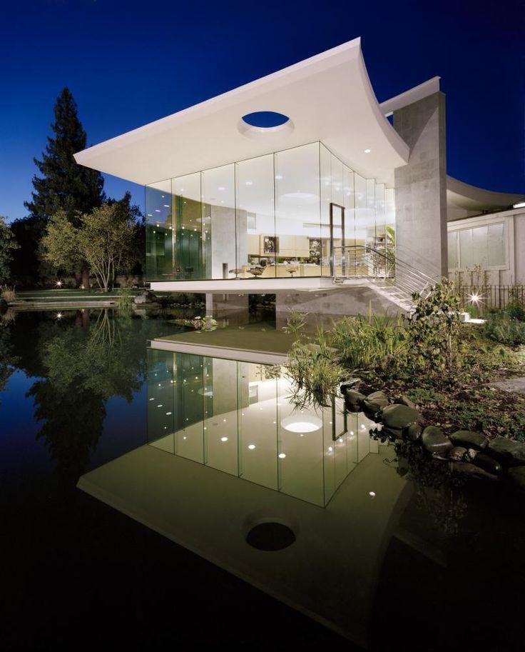 Architecture successfully integrated into the natural environment lakeside studio mark dziewulski architect · design extérieur de maisonaménagement