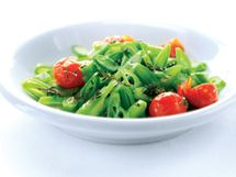 Runner Bean Salad with Roasted Tomatoes