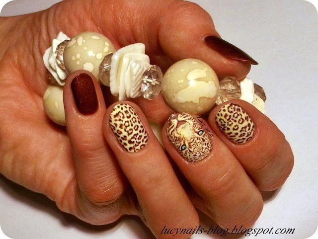 Naklejki lampart od EDbeauty - Profesjonalne ozdoby do paznokci