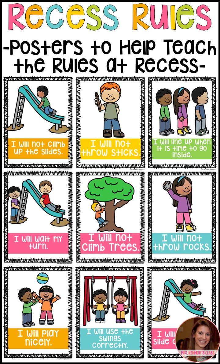 Recess Rules Recess Rules Back To School Activities School Activities [ 1188 x 720 Pixel ]