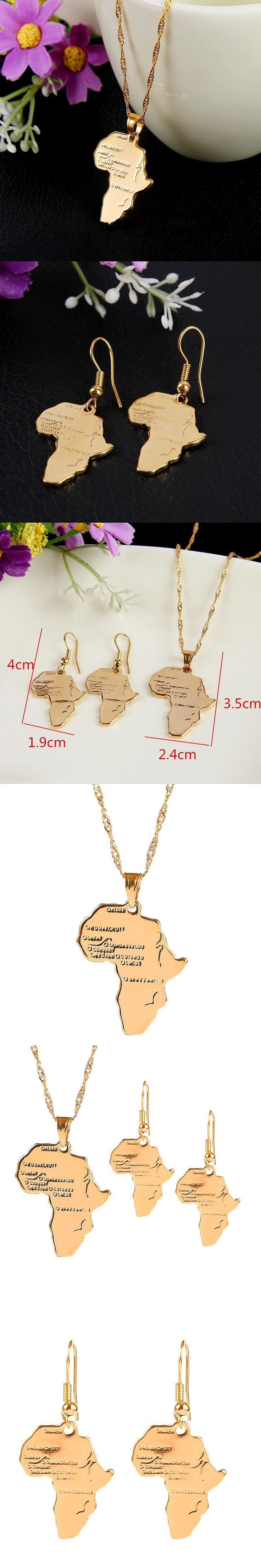 Africa Map Horn Of Africa%0A Bangrui Hiphop Africa Necklace Gift Gold Pendant  u     Chain Wholesale African  Map Men Women Trendy