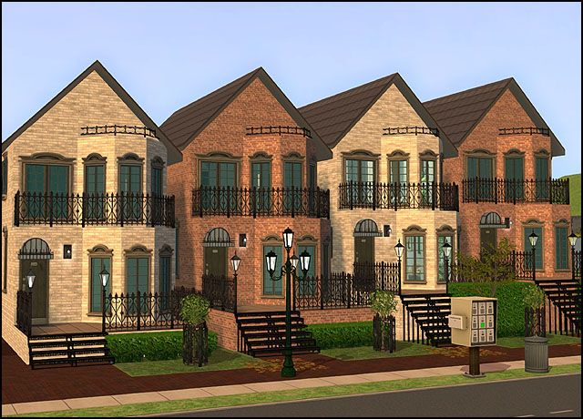 Bella's Belles Townhomes revamped - Anna's Sims
