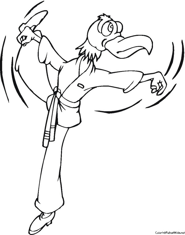 Coloring Pages Karate Kid For Kids