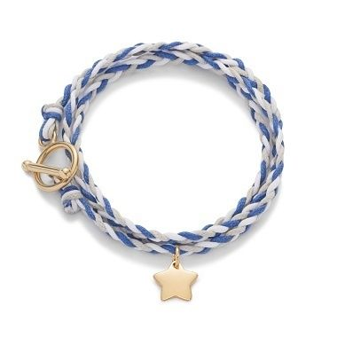 Constellation : A braided bracelet with a sweet little star, by Lilou  #lilou #bracelet #braid #star #jewellery