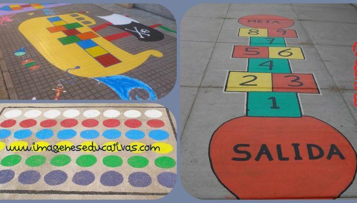 Pinta tu patio para jugar. Juegos tradicionales para el patio del cole.