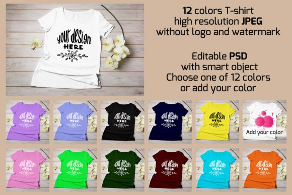 Download Women S T Shirt Mockup Graphic By Tasipas Creative Fabrica Tshirt Mockup Shirt Mockup Yellow Orchid