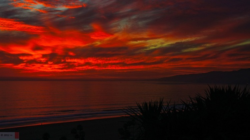 A Sky on Fire!! | Santa monica, California coast, Santa ...