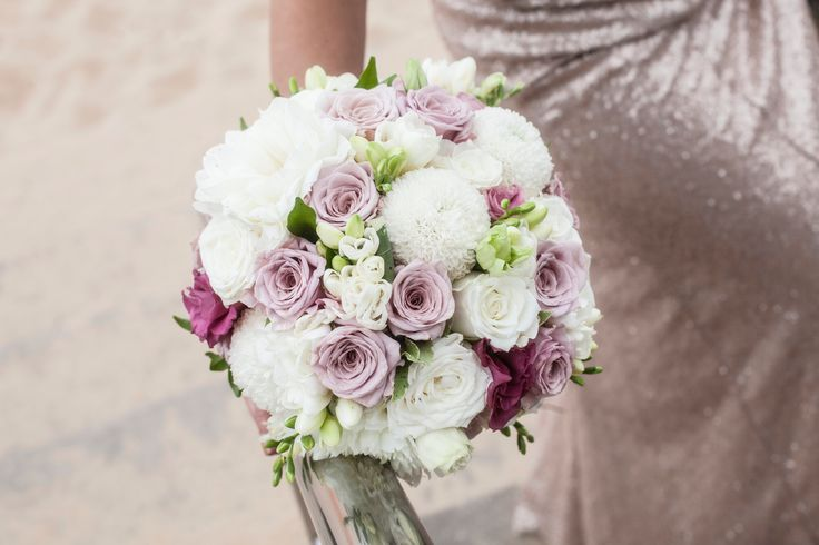 Rose, Freesia and Chrysanthemum Posy Bouquet by Blooms + Twine Floral Studio
