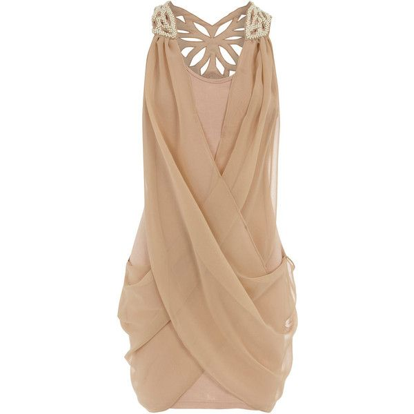 Nude dress Pearl butterfly back Dorothy Perkins. Love it, for my cousin wedding