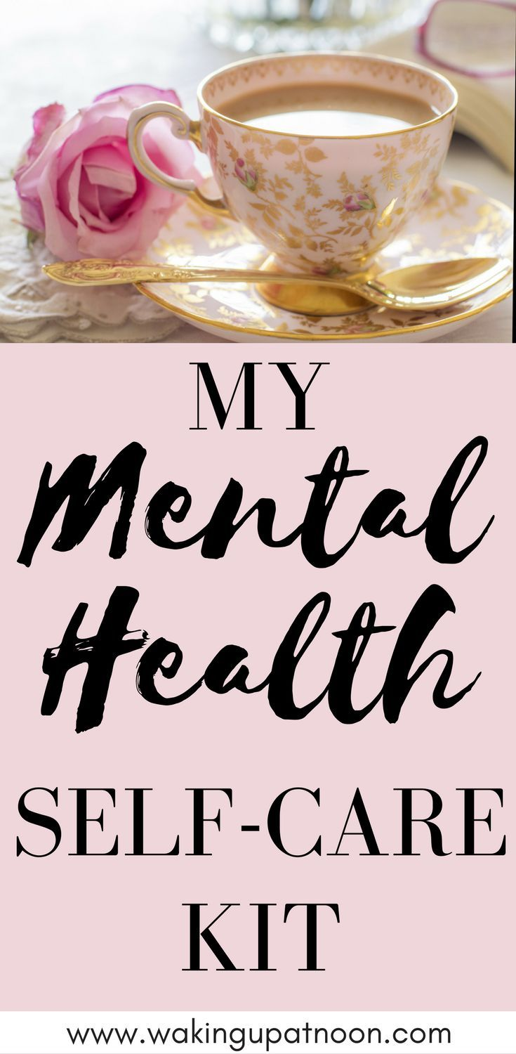 What's in my self care kit to care for my mental health and wellbeing. Mental health is so important and people who suffer from anxiety, depression, stress and other mental illness can benefit from a self care routine. These self care ideas are great for everyone wanting some self care tips to feel happier. #selfcare #selfcarekit #selfcareroutine #mentalhealth #anxiety #depression #selfcareideas