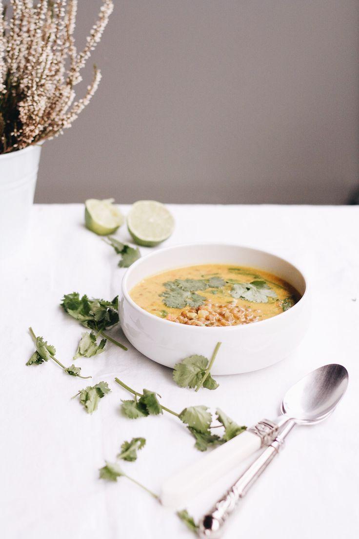 de lentejas y calabaza con curry – Lentils and pumpkin curry soup ...