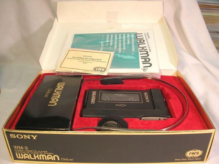 Superb Sony Walkman Deluxe Stereo Cassette Player WM-3 W/ All Orig. Acc. Box NR #Sony