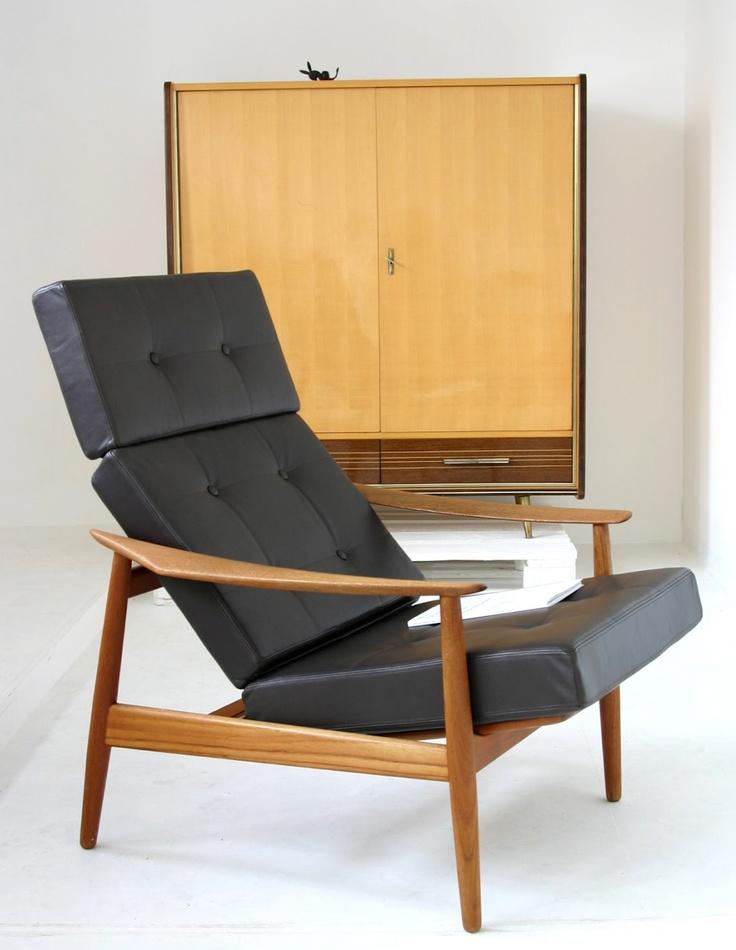 Black Armchair   Arne Vodder   MId Century Modern