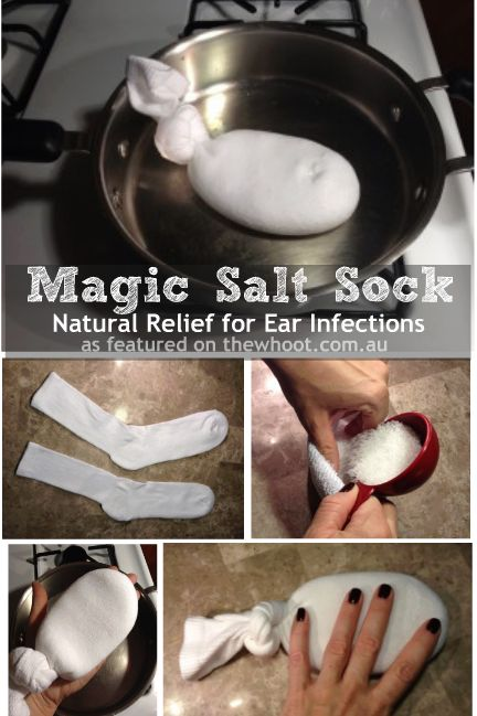 magic salt sock - natural relief for ear infections. *I also added some lavender EO. Seems like a great idea for comfort.