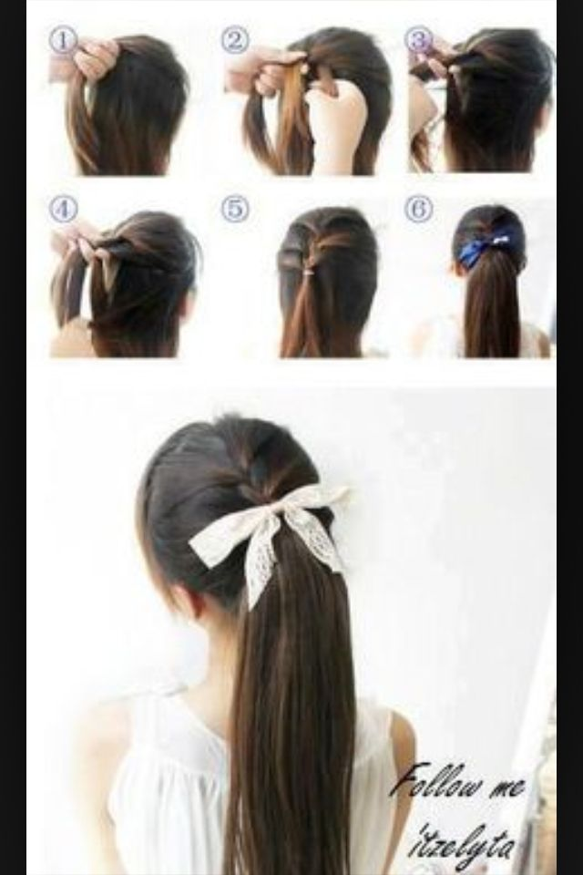 Easy way to do braided ponytails