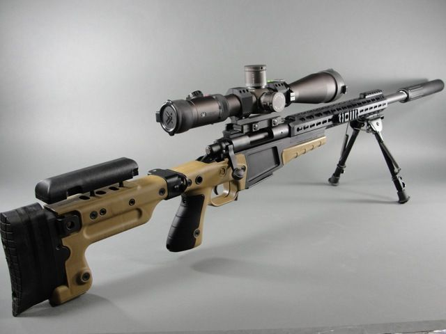 Tactical mobile and deadly accurate. This is a modular 300 magnum sniper rifle. For $3000 it's yours. Hum but could it be hand built for $1000?