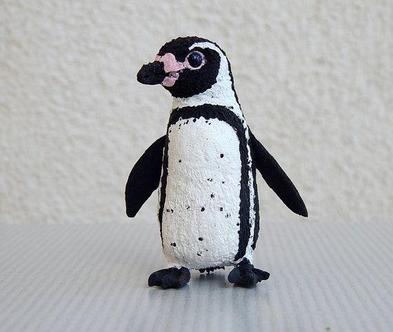 Humboldt penguin figurine Sculpture miniature by ViaLatteaArt