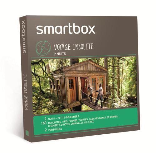 une smartbox week end voyage ou encore aventure insolite pour un no l insolite. Black Bedroom Furniture Sets. Home Design Ideas