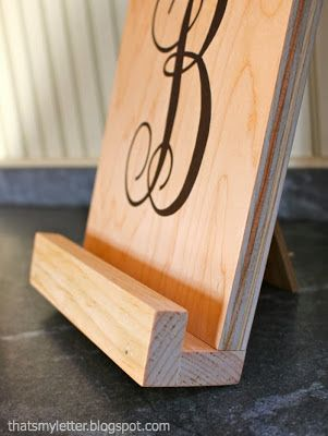 How to make a personalized ipad stand: