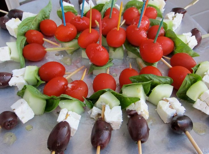 greek themed party food                                                                                                                                                     More