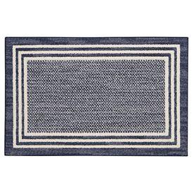 Mohawk Home Rampart Indigo Rectangular Indoor Tufted Throw Rug (Common: 2 X 4; Actual: 2.25-Ft W X 3.75-Ft L) V057-17241
