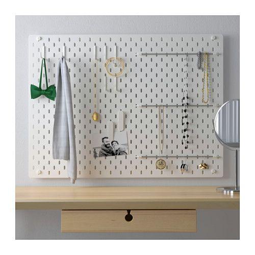 SKÅDIS Lochplatte/Kombination, weiß - IKEA
