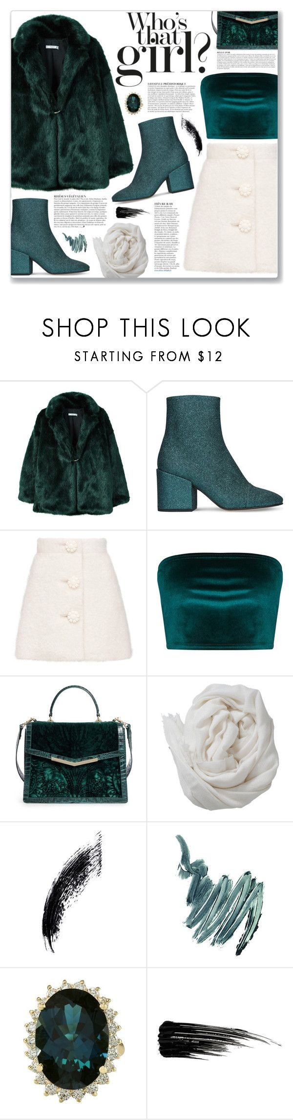 """Emerald"" by myduza-and-koteczka on Polyvore featuring MANGO, Dries Van Noten, Brahmin, Anja, Brunello Cucinelli, Napoleon Perdis and Urban Decay"