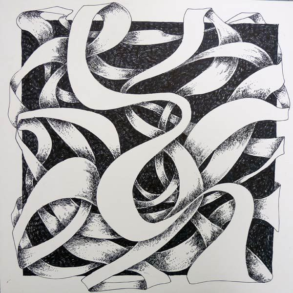 Art 1. Ribbon. Cross-hatching