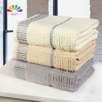 Home |  super soft 100% Cotton large size BATHROOM beach Jacquard Towel size140x70CM brand STRIPED Bath towel set FOR ADULTS B0021