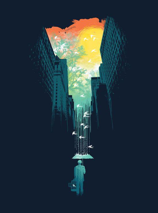 Poster | I WANT MY BLUE SKY von Budi Kwan